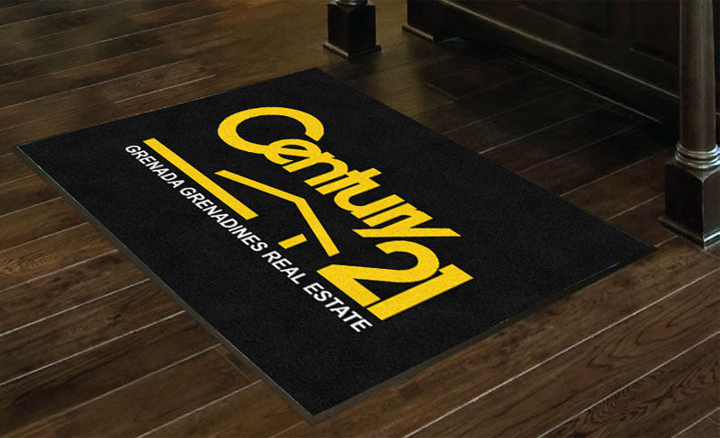 century 21 3 x 4 Rubber Backed Carpeted HD - The Personalized Doormats Company