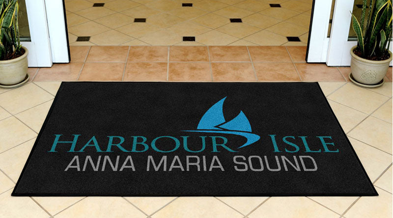 Harbour Isle 3 X 5 Rubber Backed Carpeted - The Personalized Doormats Company