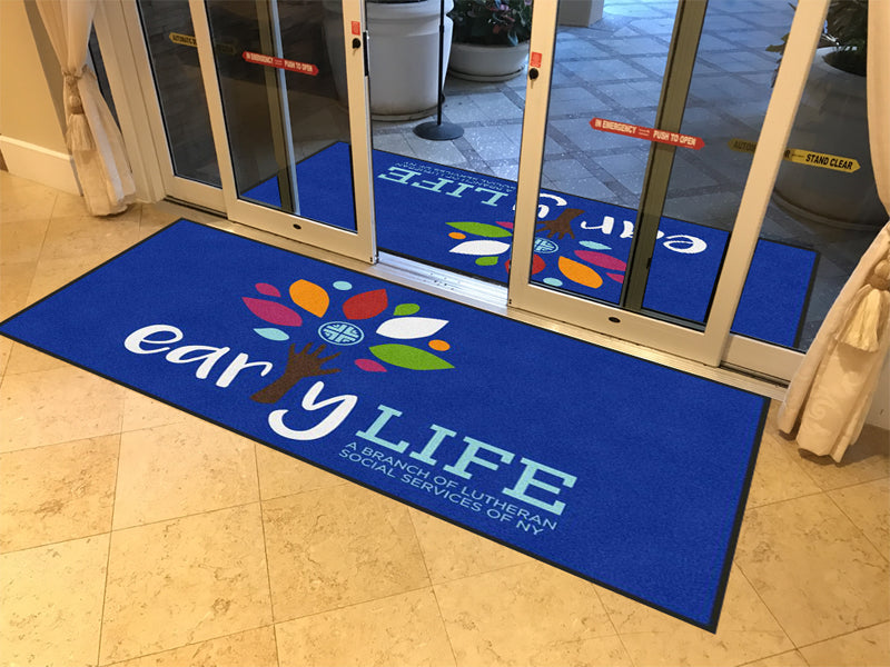 Early LIFE 4 X 8 Rubber Backed Carpeted HD - The Personalized Doormats Company