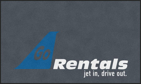 Go Rentals 6 X 10 Rubber Backed Carpeted HD - The Personalized Doormats Company