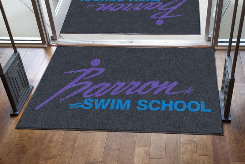 Barron Swim School 4 X 6 Rubber Backed Carpeted HD - The Personalized Doormats Company