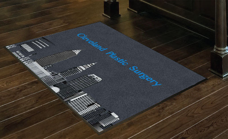Cleveland Plastic Surgery 3 x 4 Rubber Backed Carpeted HD - The Personalized Doormats Company