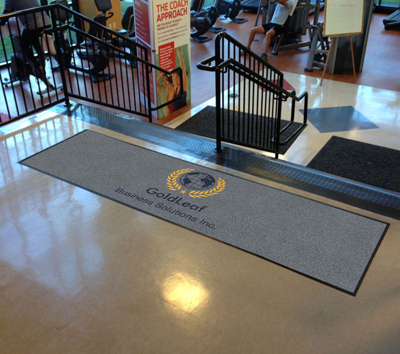 GoldLeaf Business Solutions 3 X 10 Rubber Backed Carpeted HD - The Personalized Doormats Company