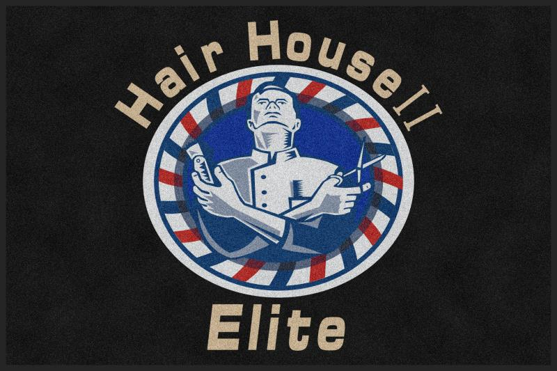 Hair House ll Elite 4 x 6 Custom Plush 30 HD - The Personalized Doormats Company