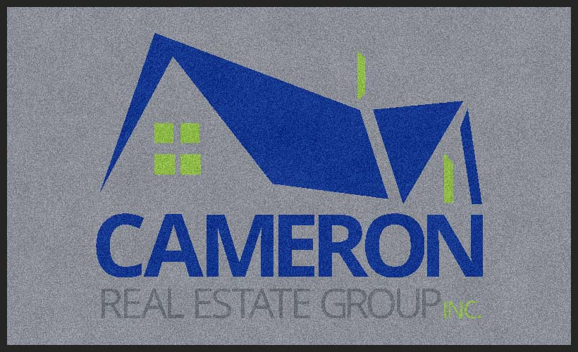 Cameron Real Estate Group 3 x 5 Rubber Backed Carpeted HD - The Personalized Doormats Company