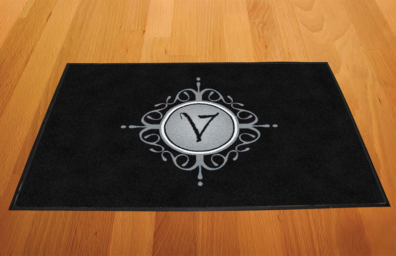 EBVD Logo Mat 2 x 3 Rubber Backed Carpeted HD - The Personalized Doormats Company