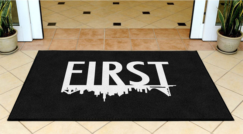 FIRST CLOTHING BOX 3 x 5 Rubber Backed Carpeted - The Personalized Doormats Company