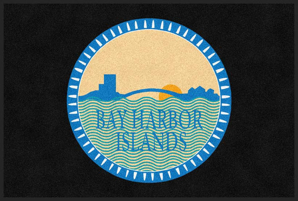 Bay Harbor Islands Elevators 4 X 6 Rubber Backed Carpeted HD - The Personalized Doormats Company