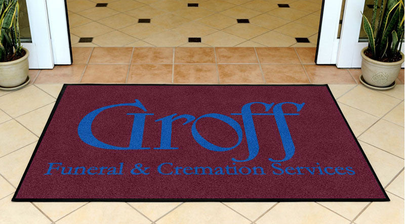 Groff Funeral & Cremation Services 3 x 5 Rubber Backed Carpeted HD - The Personalized Doormats Company