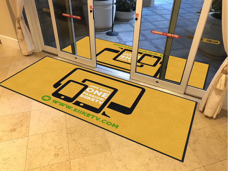 IBRAHIM I KOROMA 4 X 8 Rubber Backed Carpeted HD - The Personalized Doormats Company