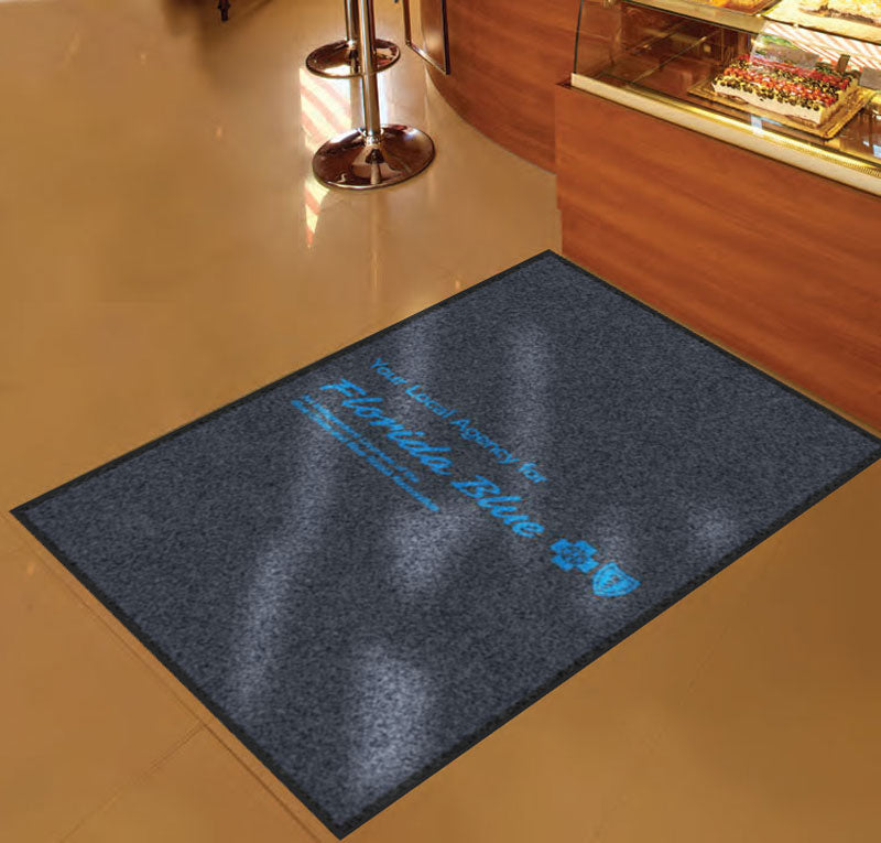 Allied Marketing Central 3 x 5 Rubber Backed Carpeted HD - The Personalized Doormats Company