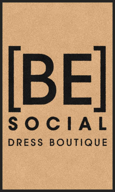 Be Social Dress Boutique (Front Door) 3 X 5 Rubber Backed Carpeted - The Personalized Doormats Company