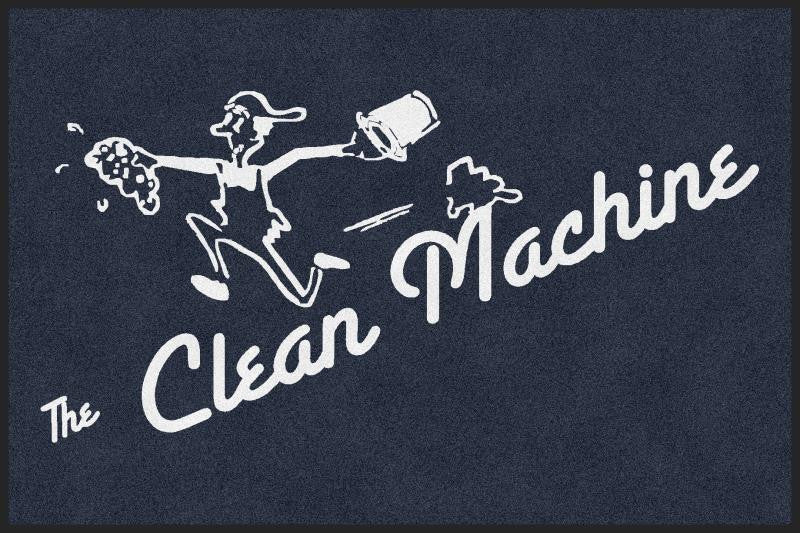 Clean Machine 4 X 6 Rubber Backed Carpeted HD - The Personalized Doormats Company