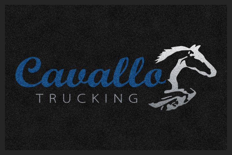 Cavallo Trucking 2 X 3 Rubber Backed Carpeted HD - The Personalized Doormats Company