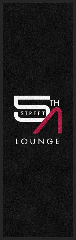 5th street lounge 3 X 10 Rubber Backed Carpeted HD - The Personalized Doormats Company