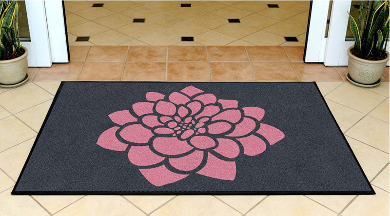 blossoms & beehives 3 X 5 Rubber Backed Carpeted HD - The Personalized Doormats Company