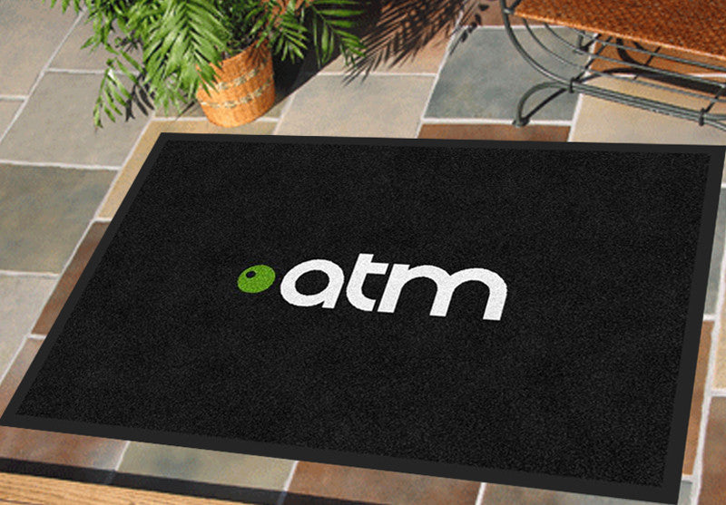 ATM Floor mat 2 x 3 Rubber Backed Carpeted HD - The Personalized Doormats Company
