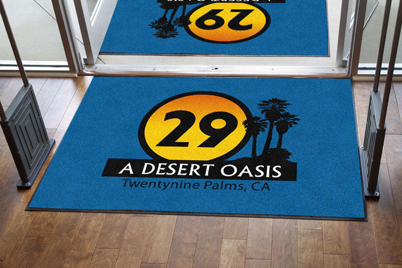 City of Twentynine Palms 4 X 6 Rubber Backed Carpeted HD - The Personalized Doormats Company