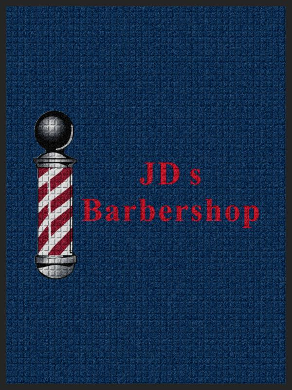 JDs Barbershop 3 x 4 Waterhog Impressions - The Personalized Doormats Company