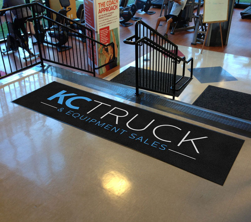 KC Truck and Equipment Sales 3 X 10 Rubber Backed Carpeted HD - The Personalized Doormats Company