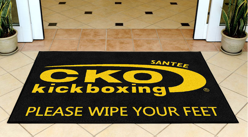 CKO Kickboxing Santee 3 X 5 Rubber Backed Carpeted HD - The Personalized Doormats Company