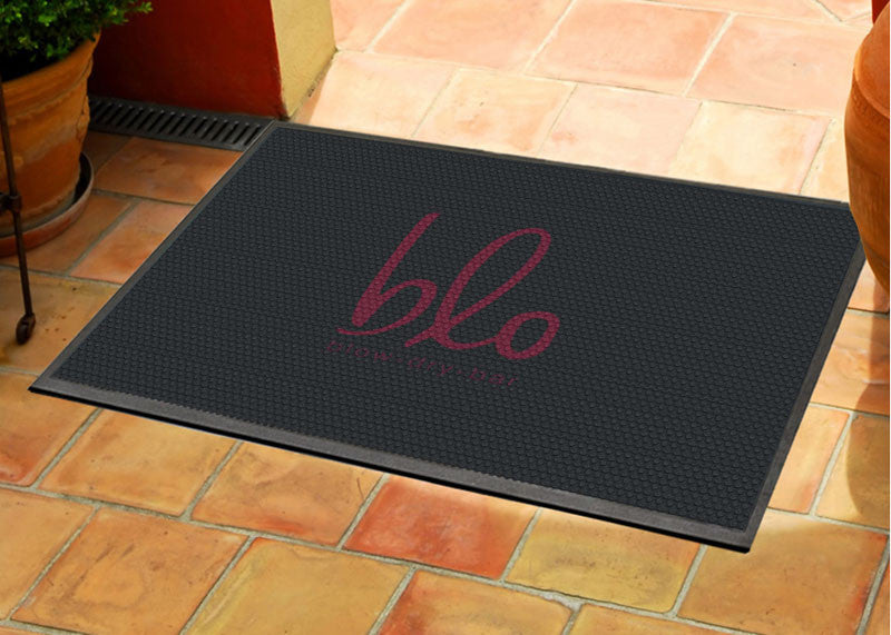 Hello gorgeous mat 2.5 x 3 Rubber Scraper - The Personalized Doormats Company