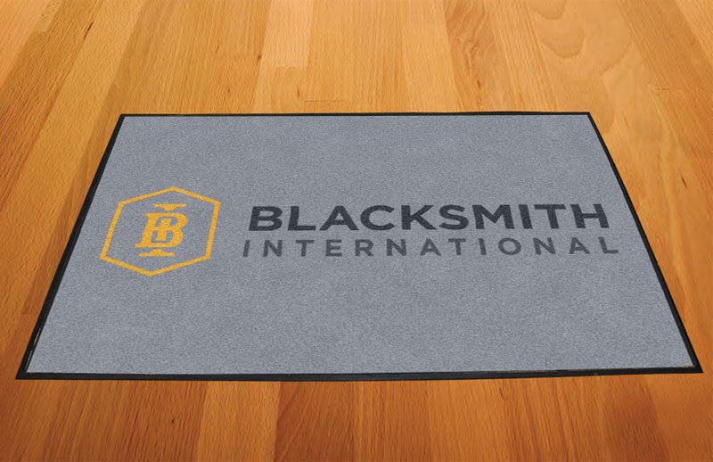 Blacksmith International 2 X 3 Rubber Backed Carpeted HD - The Personalized Doormats Company