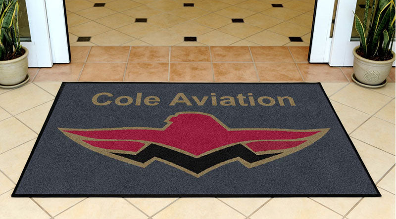 Cole Aviation 3 X 5 Rubber Backed Carpeted HD - The Personalized Doormats Company