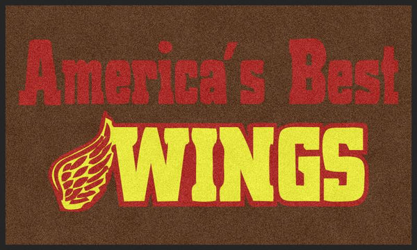 Americas Best Wings 3 X 5 Rubber Backed Carpeted HD - The Personalized Doormats Company