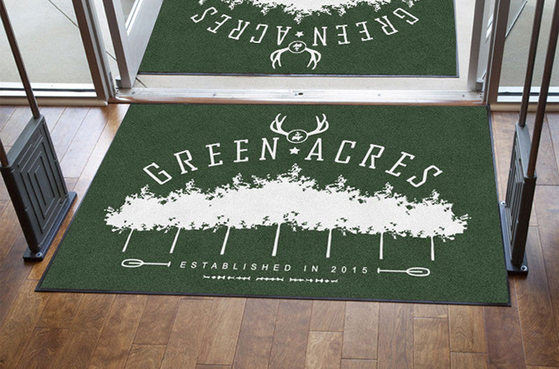 Green acres 4 X 6 Rubber Backed Carpeted HD - The Personalized Doormats Company
