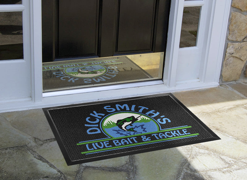 Dick Smith's Live Bait & Tackle 2 x 3 Luxury Berber Inlay - The Personalized Doormats Company