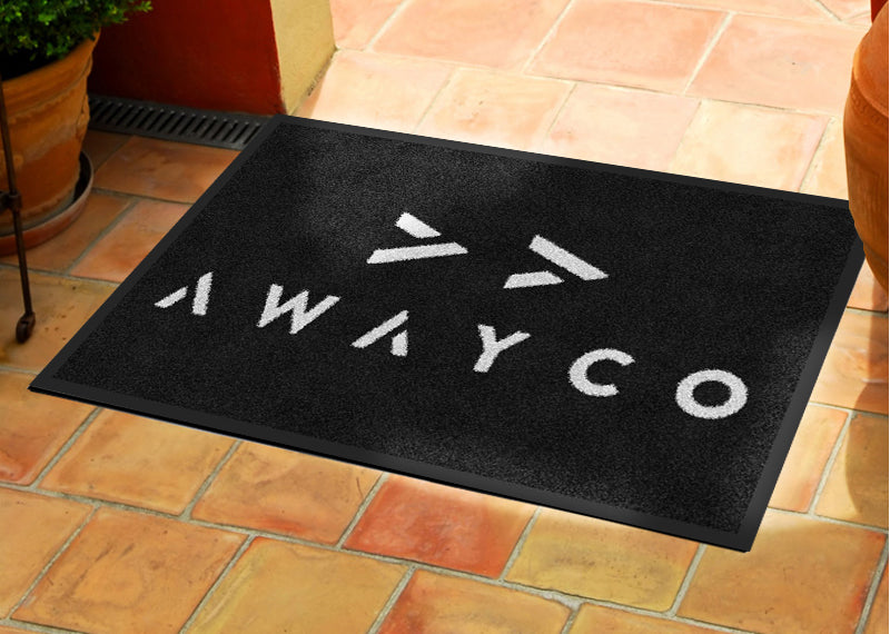 Awayco 2 x 3 Rubber Backed Carpeted - The Personalized Doormats Company