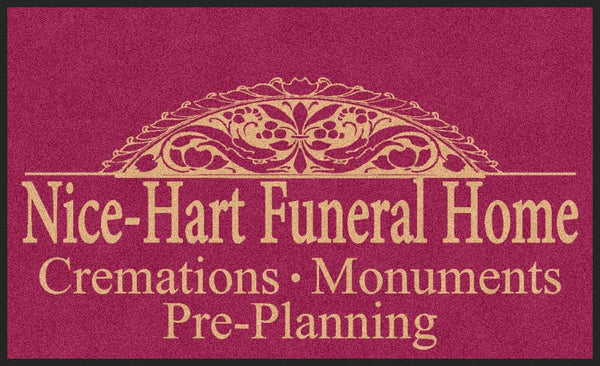 HART FUNERAL HOME 3 X 5 Rubber Backed Carpeted - The Personalized Doormats Company