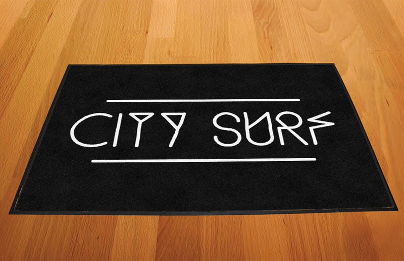 City Surf Fitness Denver 2 X 3 Rubber Backed Carpeted HD - The Personalized Doormats Company