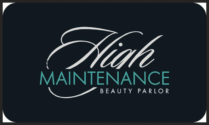 High Maintenance Beauty Parlor 3 X 5 Anti-Fatigue - The Personalized Doormats Company