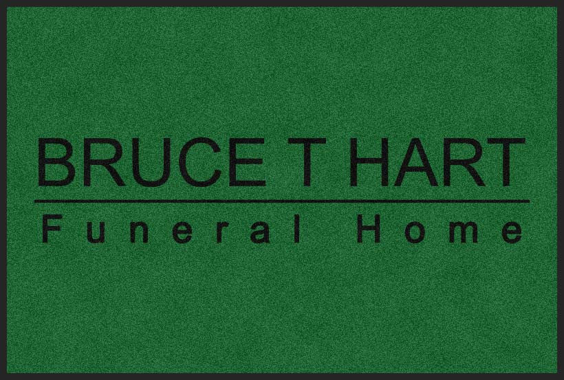 BRUCE HART FUNERAL HOME 4 X 6 Rubber Backed Carpeted HD - The Personalized Doormats Company