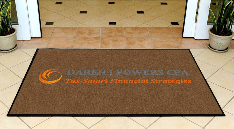 DAREN J POWERS CPA 3 X 5 Rubber Backed Carpeted HD - The Personalized Doormats Company