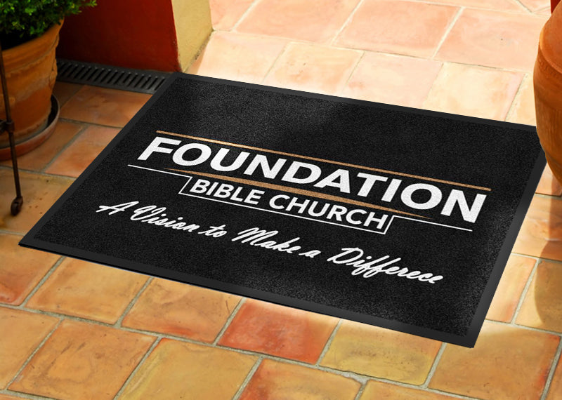 FBC 2 X 3 Rubber Backed Carpeted HD - The Personalized Doormats Company