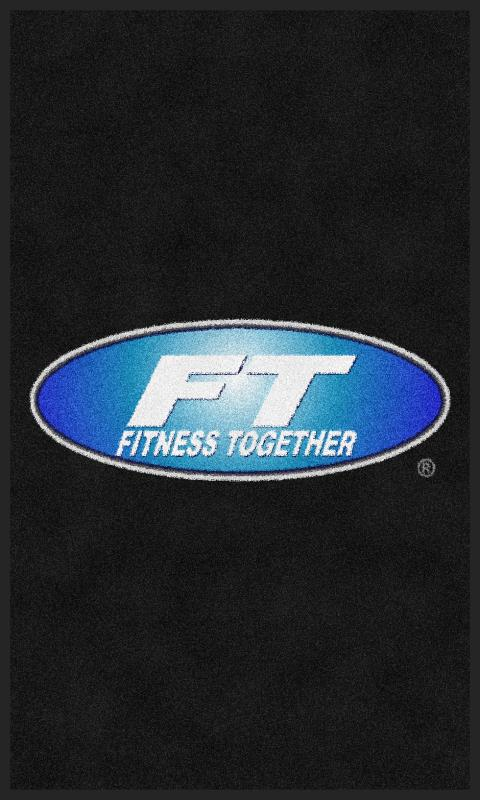 Fitness Together Ballantyne Front 3 x 5 Rubber Backed Carpeted - The Personalized Doormats Company
