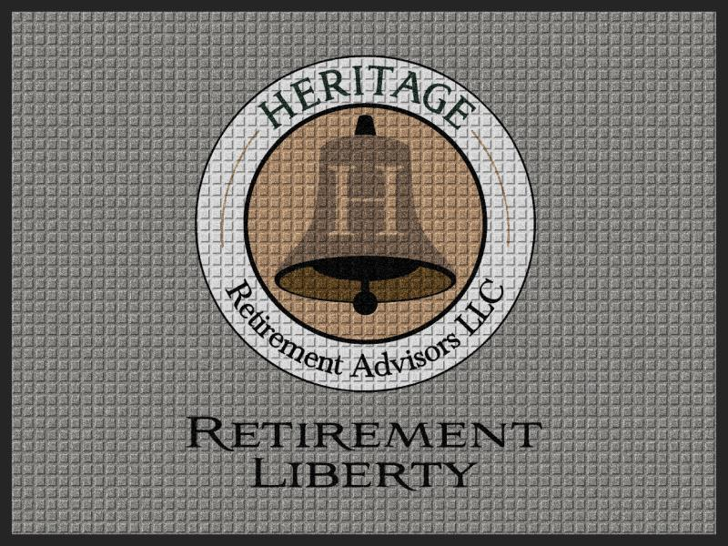 Heritage Retirement Advisors 3 X 4 Waterhog Impressions - The Personalized Doormats Company