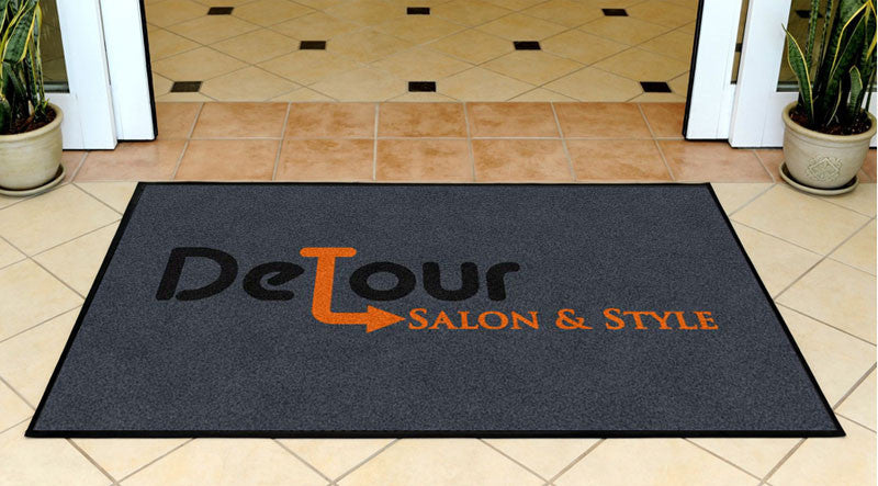 Detour 3 X 5 Rubber Backed Carpeted HD - The Personalized Doormats Company