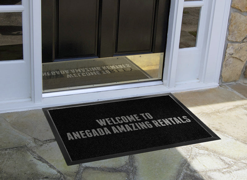 AMAZING RENTALS 2 x 3 Luxury Berber Inlay - The Personalized Doormats Company