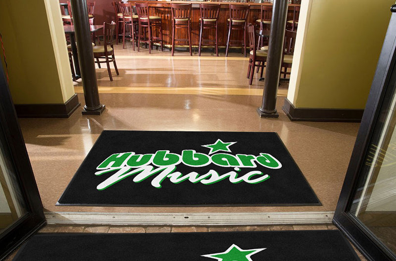 Hubbard Music 4 X 6 Rubber Backed Carpeted HD - The Personalized Doormats Company