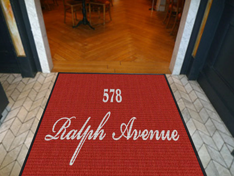 578 RalphAvenue 4 X 8 Waterhog Inlay - The Personalized Doormats Company