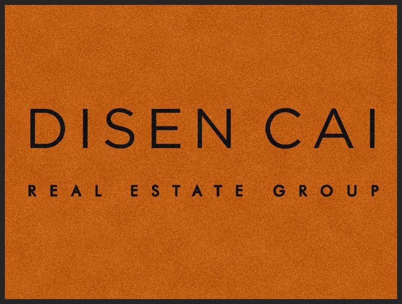 Disen Cai Real Estate Group 3 X 4 Rubber Backed Carpeted HD - The Personalized Doormats Company