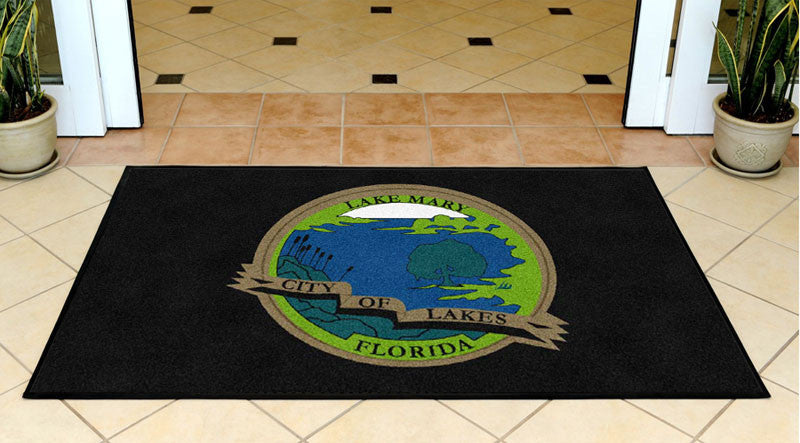CITY OF LAKE MARY 3 X 5 Rubber Backed Carpeted HD - The Personalized Doormats Company
