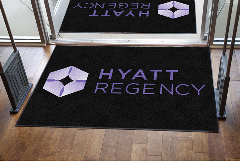 Hyatt v1 4 x 6 Rubber Backed Carpeted HD - The Personalized Doormats Company