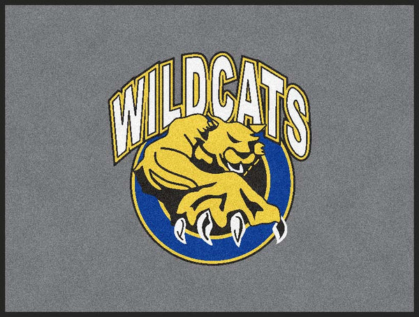 Dunn Wildcats 3 x 4 Flocked Olefin 4 Color - The Personalized Doormats Company