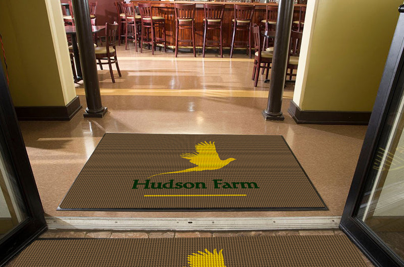 HUDSON FARM - Fashion Edge 4 X 6 Waterhog Impressions - The Personalized Doormats Company