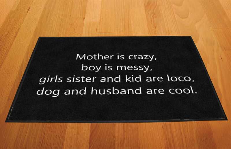 Door mat 2 X 3 Rubber Backed Carpeted HD - The Personalized Doormats Company